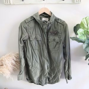 Army olive green utility jacket